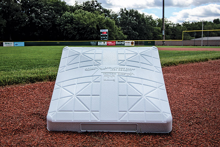 Original Hollywood Jack Corbett MLB Bases