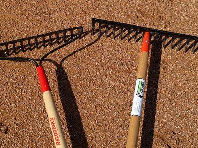Photo: Two styles of iron rake